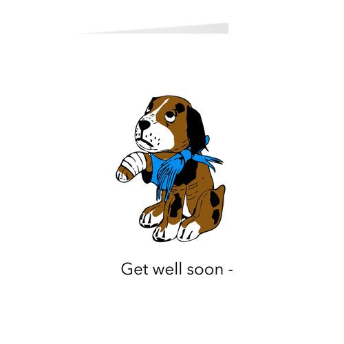 Dog - Get Well Soon - Greeting Card
