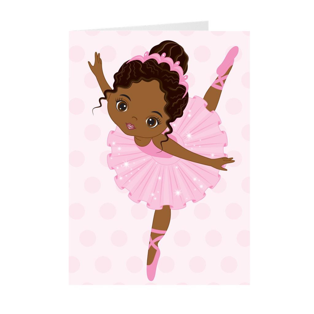African American Ballerina - Happy Birthday - Greeting Card