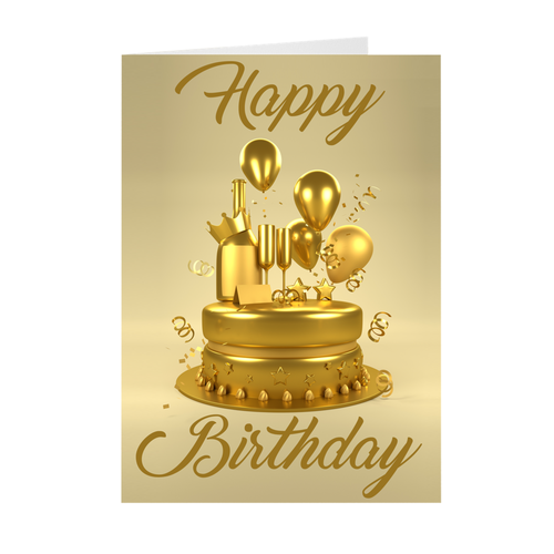You Are Solid Gold - Happy Birthday Greeting Card