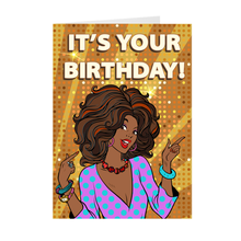 Load image into Gallery viewer, Solid Gold - African-American Woman - Birthday Greeting Card
