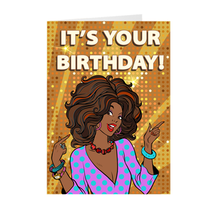 Solid Gold - African-American Woman - Birthday Greeting Card