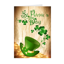 Load image into Gallery viewer, St Patrick's Day - Gold Coins & Hat - Holiday Greeting Card