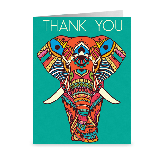 Elephant - Thank You Greeting Card