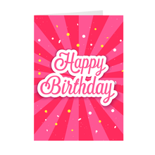 Load image into Gallery viewer, Pink Confetti - Happy Birthday Greeting Card