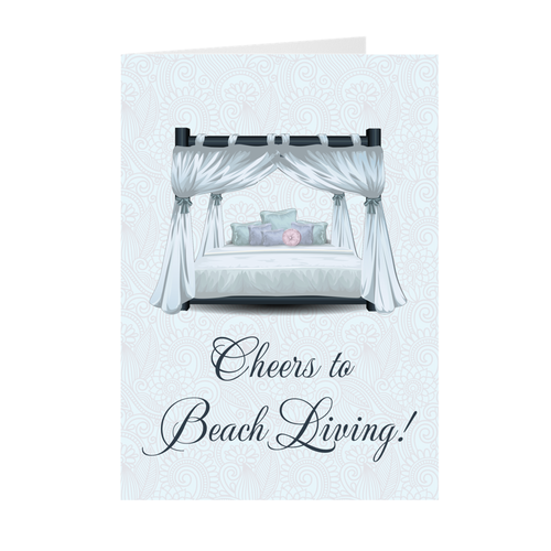 Cheers To Beach Living - Housewarming Greeting Cards