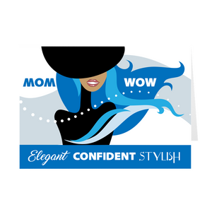 Blue Elegant Confident Stylish - African American Woman - Mother's Day Card