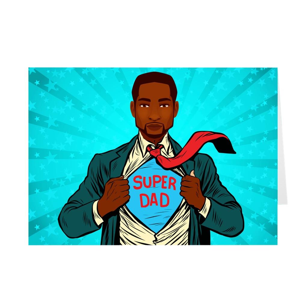 Super Dad - African American Man - Father's Day Card