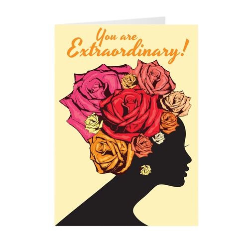 Extraordinary - African American Woman - Mother's Day Card
