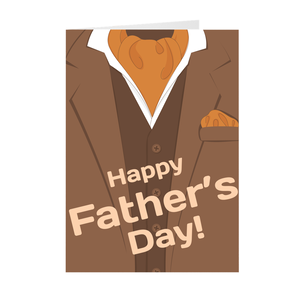 Brown Suit - Happy Father's Day - Blank Greeting Card