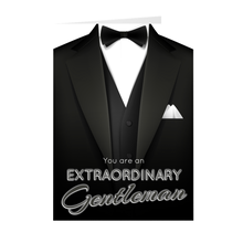 Load image into Gallery viewer, Extraordinary Gentleman - Father's Day - Blank Greeting Card