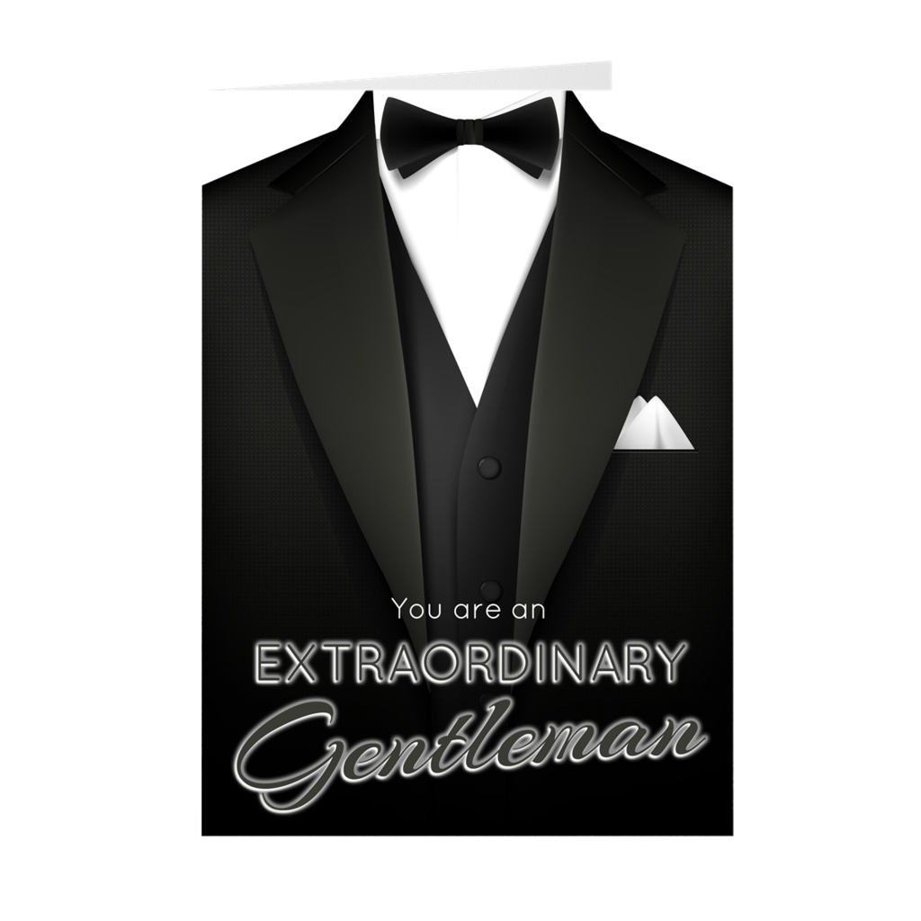 Extraordinary Gentleman - Father's Day - Blank Greeting Card