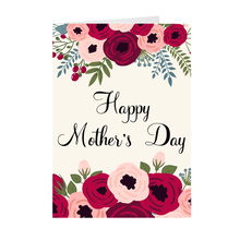 Load image into Gallery viewer, Floral Top & Bottom - Happy Mother's Day Greeting Card