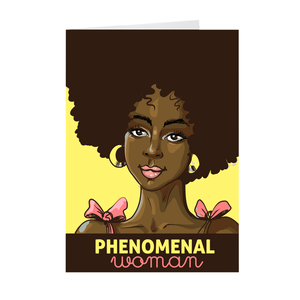 Phenomenal Woman - African American Woman - Mother's Day Greeting Card