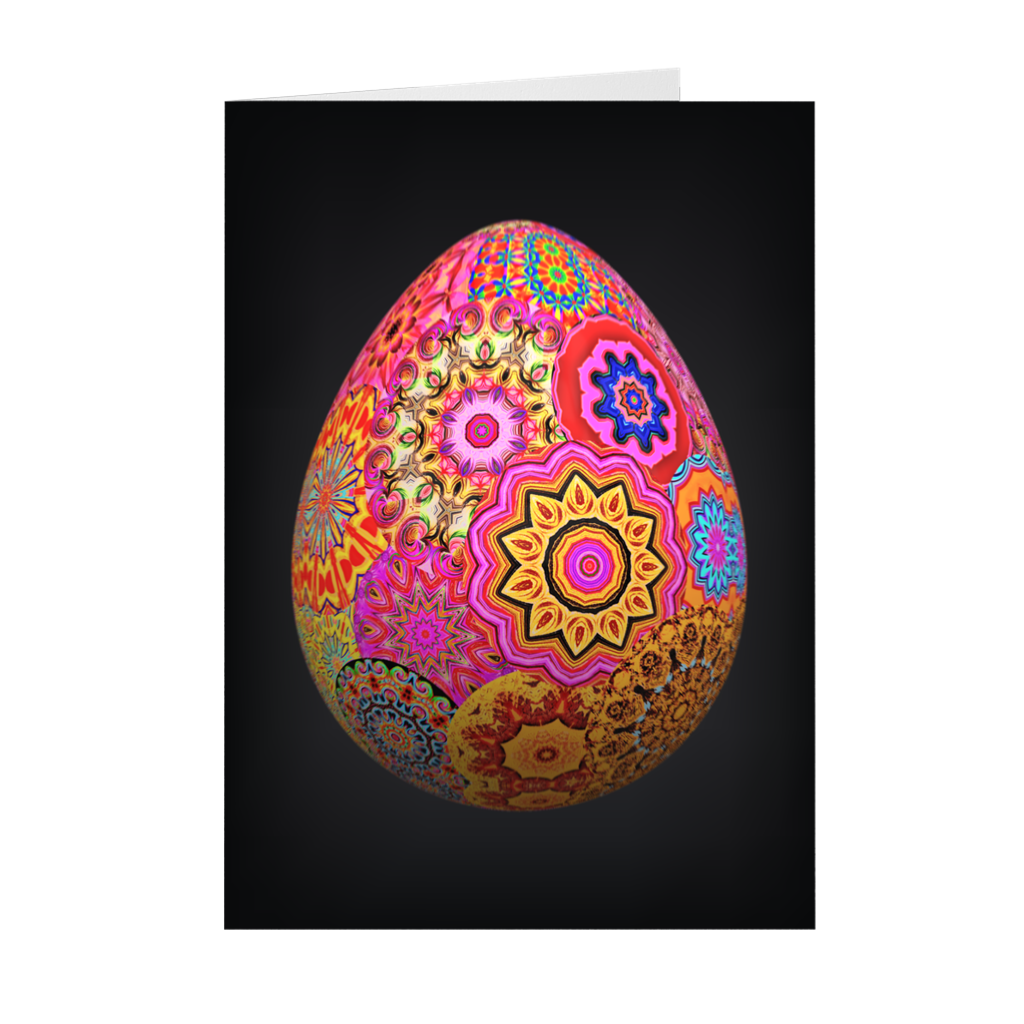 Bohemian Easter Egg - Happy Easter Greeting Card