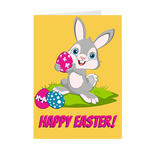 Egg-Xtra Special Day - Easter Bunny - Easter Greeting Card