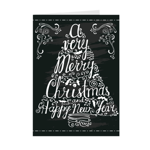 A Merry Christmas - Tree - Christmas Greeting Card