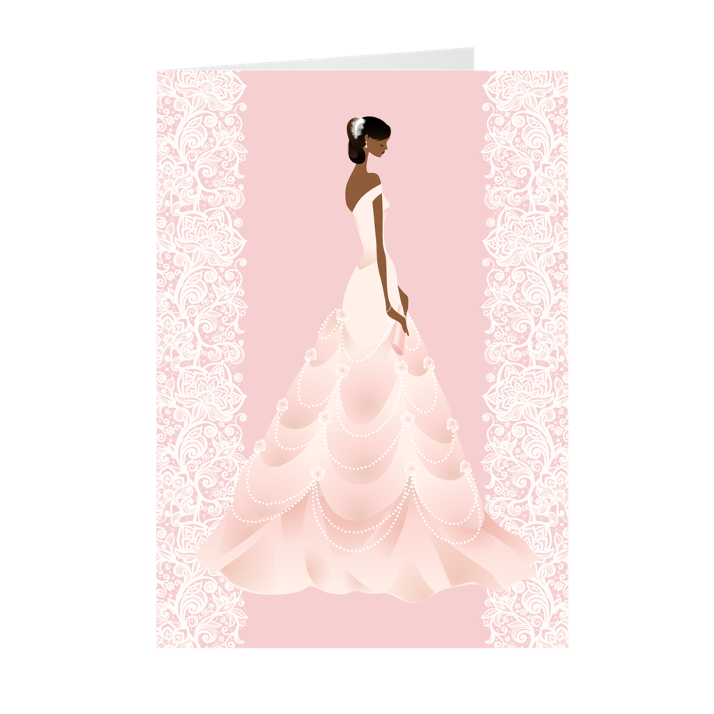 African-American Bride - Wedding Greeting Cards