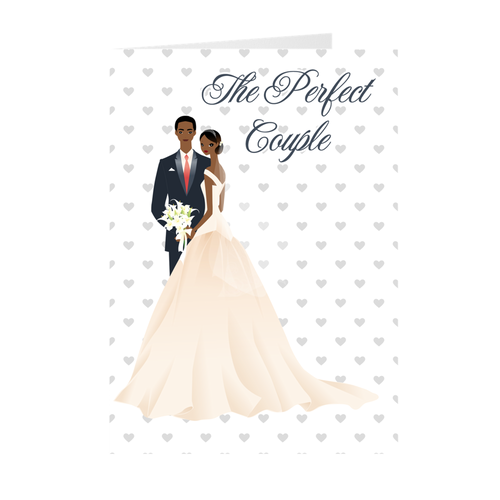 African American - Perfect Wedding Couple - Greeting Cards
