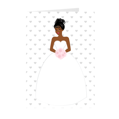 African American Smiling Bride - Greeting Card