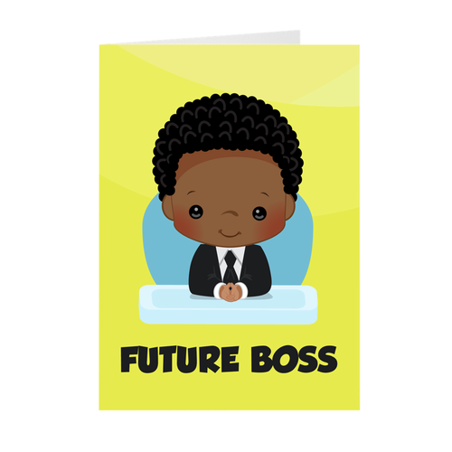 African American Boy - Future Boss Greeting Cards