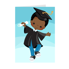 Load image into Gallery viewer, African American Boy - Graduation Greeting Card