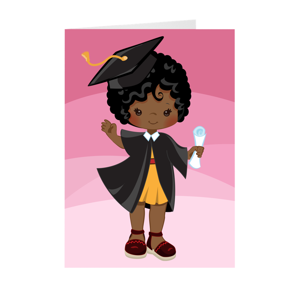 African American Girl - Graduation Greeting Card