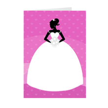 Load image into Gallery viewer, African American Bride - Purple - Wedding Greeting Card