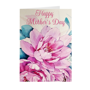 Flowers - Happy Mother's Day - Mother's Day Greeting Card