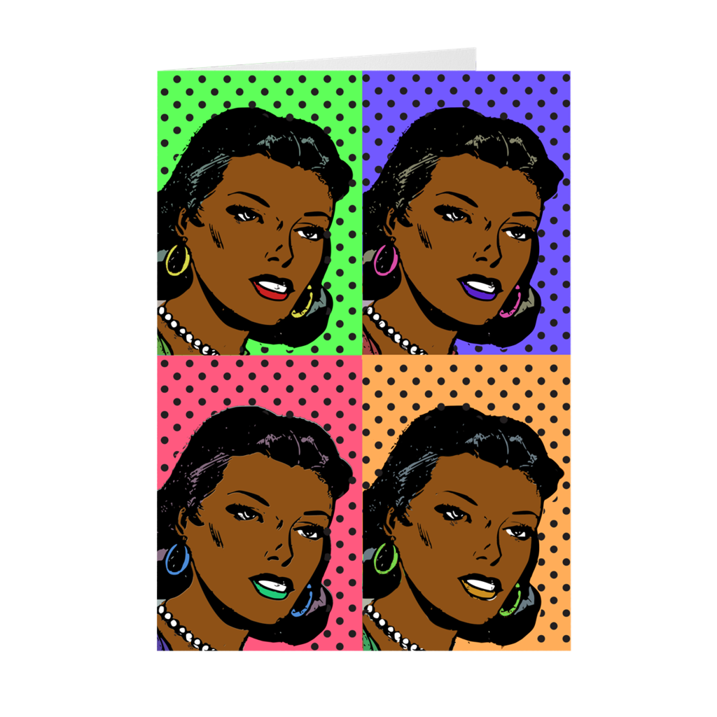 Pop Art - African American Woman Work of Art - Mother's Day Greeting Card