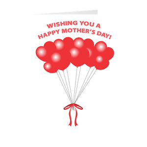 Heart Balloons - Happy Mother's Day - Mother's Day Greeting Cards
