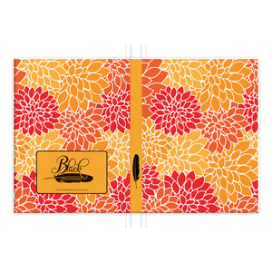 Floral Dreams - Red Orange Gold - Hardcover Journal