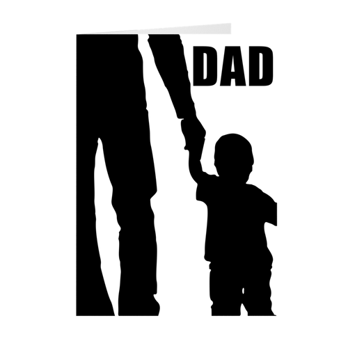 Father & Son - Holding Hands - Father's Day Greeting Card