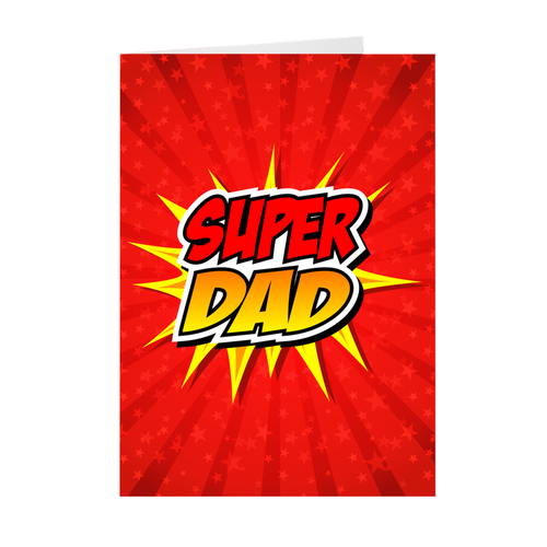 Super Dad - Father's Greeting Card