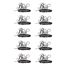 Load image into Gallery viewer, Black Stationery Black & White Seal - Premium Stickers
