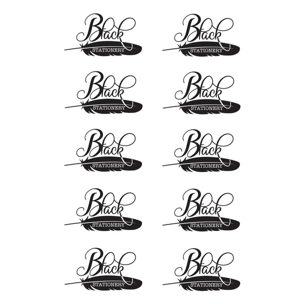 Black Stationery Black & White Seal - Premium Stickers