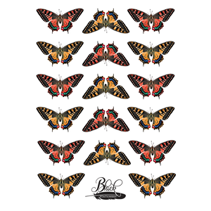 Black Stationery - Exotic Butterfly Premium Stickers