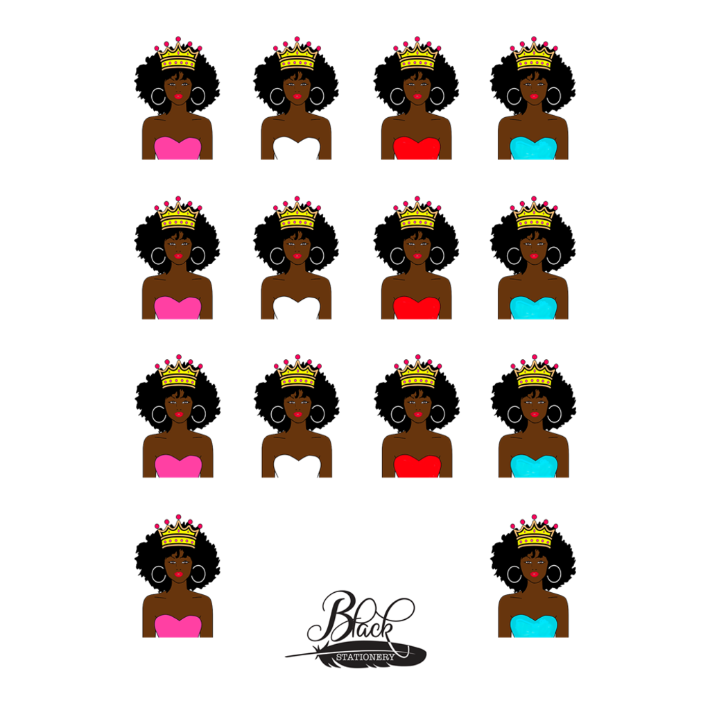 Believe in Yourself - African American AFRO Crown Girl Premium Stickers