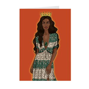 Intuition - African American Princess Greeting Card