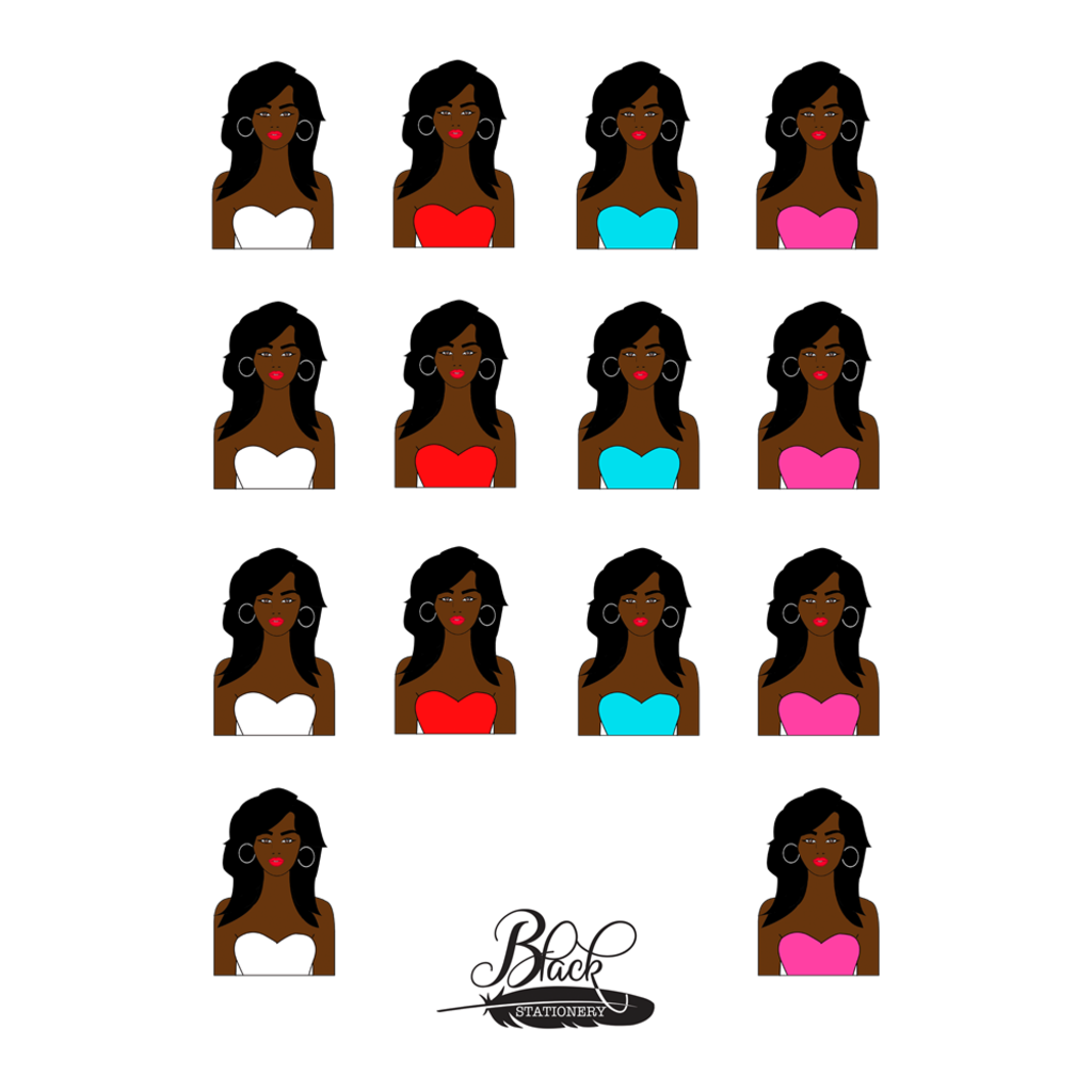 Pure Confidence - African American Girl Premium Stickers