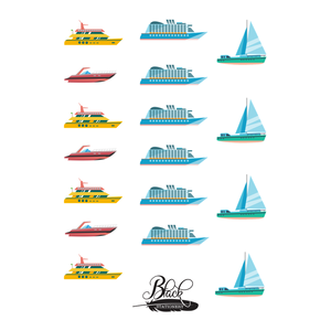 Yacht, Cruise Ship, Speedboat & Sailboat Premium Stickers