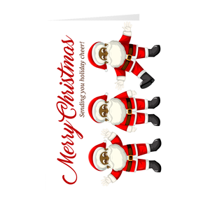 Sending You Holiday Cheer - African American Dancing Santa Christmas Greeting Card