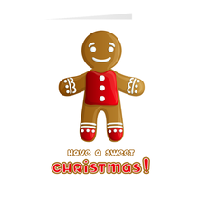 Load image into Gallery viewer, Gingerbread Man Sweet Christmas Greeting Card
