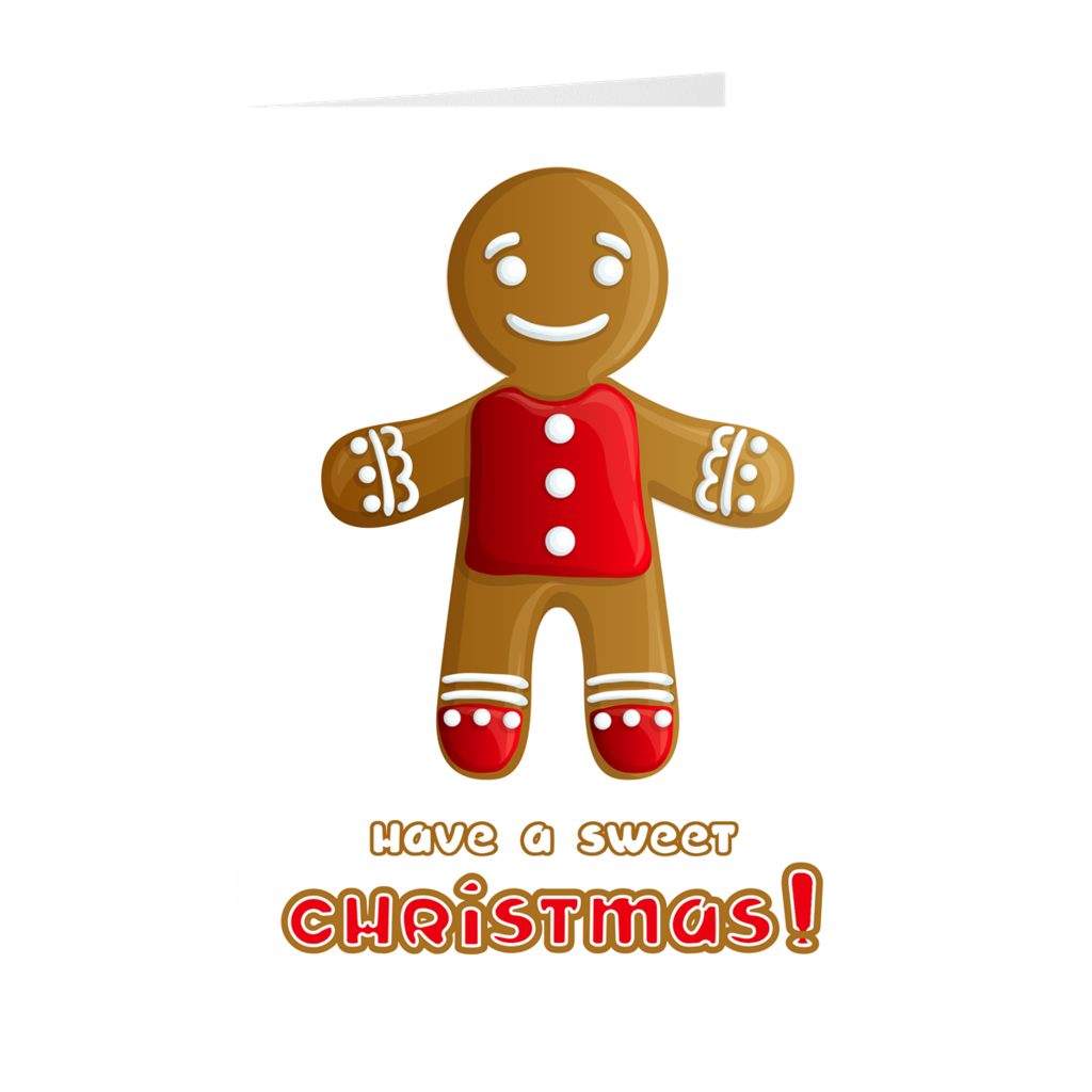 Gingerbread Man Sweet Christmas Greeting Card