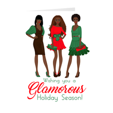 Load image into Gallery viewer, African American Women - Glamorous Holiday Season Greeting Card