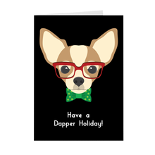Load image into Gallery viewer, Chihuahua - Dapper Dog Holiday Greeting Card