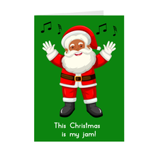 Load image into Gallery viewer, This Christmas - Dancing - African American Santa Claus Greeting Card
