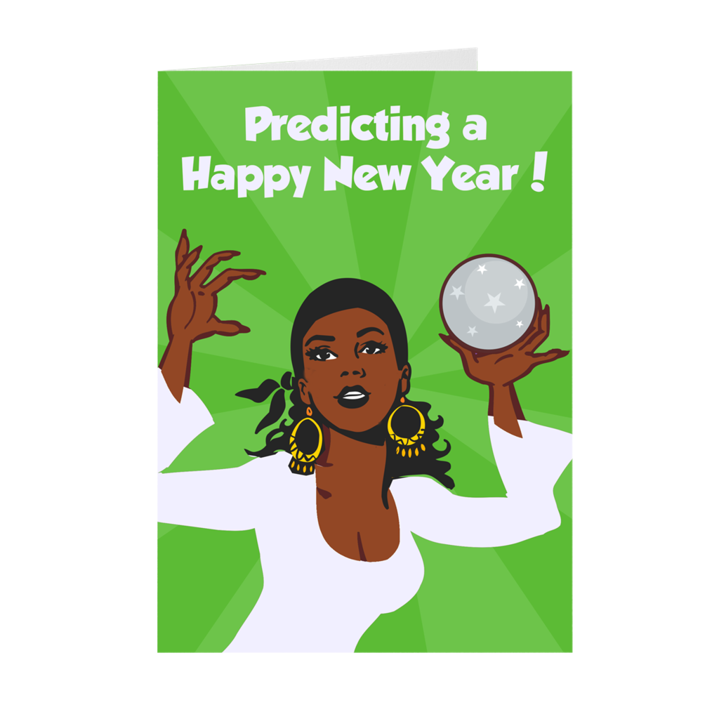 New Year Predictions Holiday Greeting Card