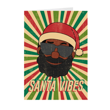 Load image into Gallery viewer, Pop Art Retro Santa Claus With Sunglasses - African American Santa Vibes Greeting Card