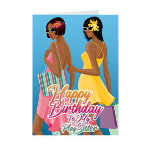 Play Sister - Best Friends - African American Birthday Greeting Card