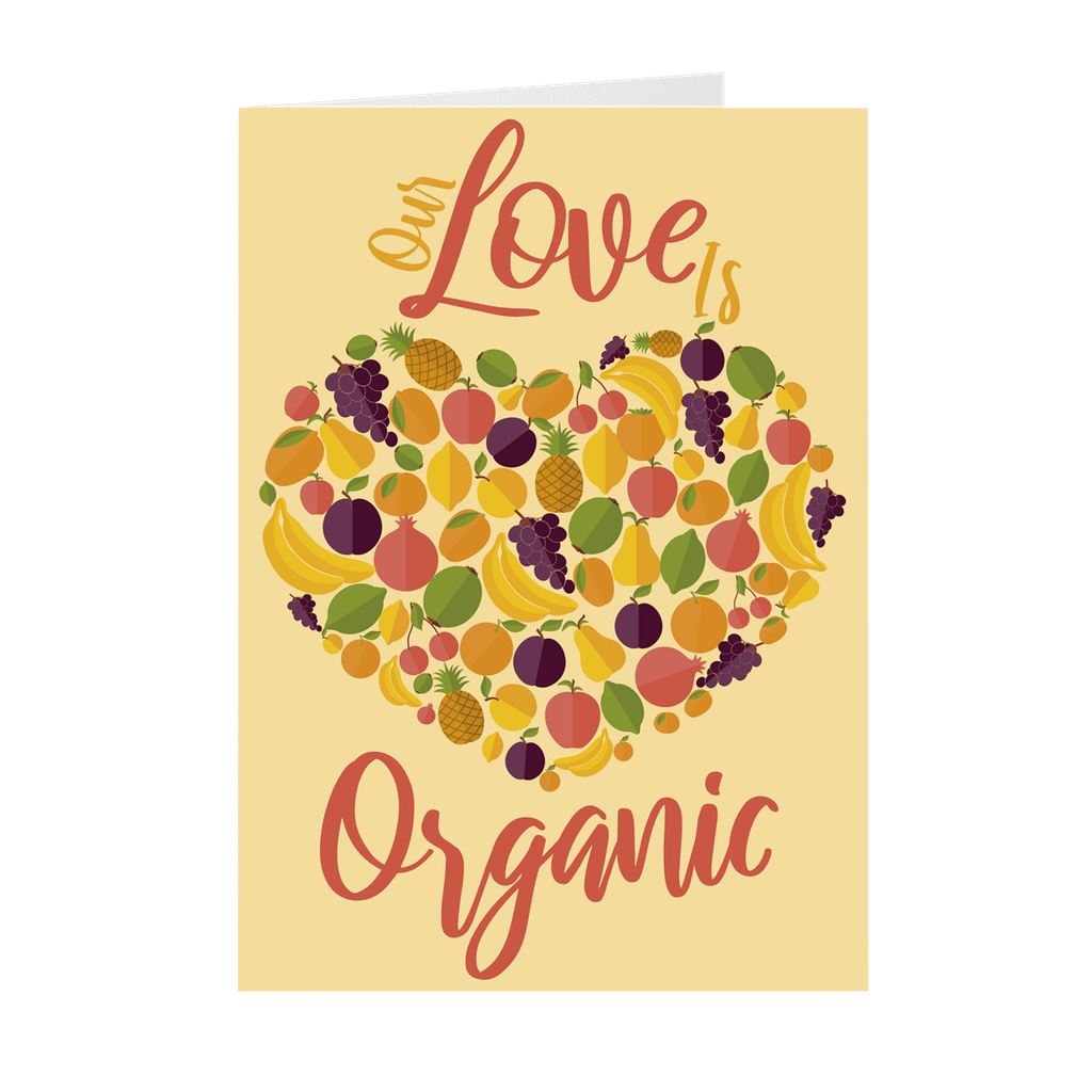 Orange - Fruit & Veggies - Our Love Is Organic Greeting Card